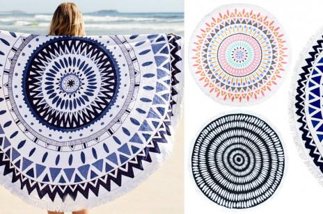 Okrągłe ręczniki plażowe – największy hit tego lata