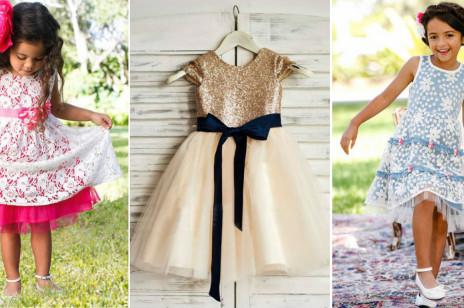 Najpiękniejsze sukienki na wesele dla małych dziewczynek