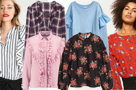 Bluzki z falbanami - najpiękniejsze propozycje z sieciówek