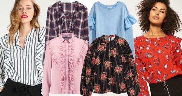 Trendy na jesień 2017 - bluzki z falbanami