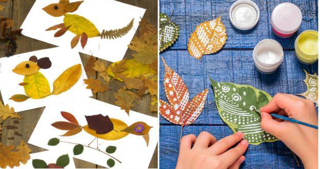 Dekoracje z jesiennych liści