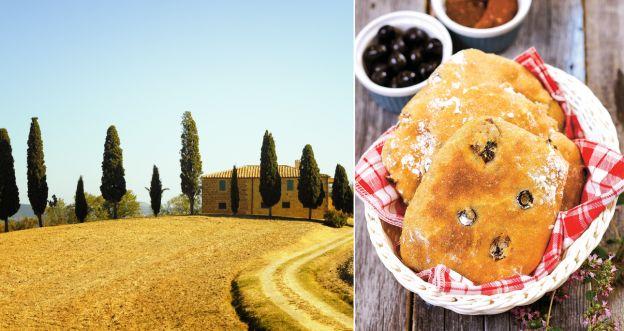włoski chlebek z oliwkami