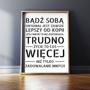 Plakaty Z Hasłami Powieś Na ścianie Swój Własny Manifest