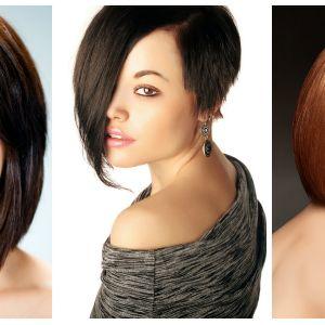 Krótkie fryzury wyszczuplające twarz