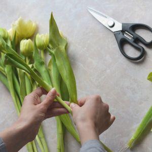 Oczyść łodygi z liści i zabrudzeń