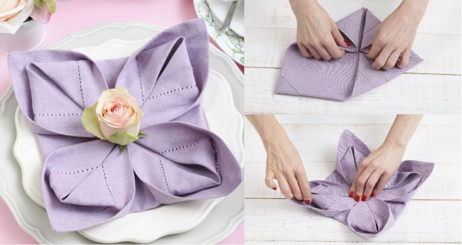 jak złożyć serwetkę w kwiat lotosu