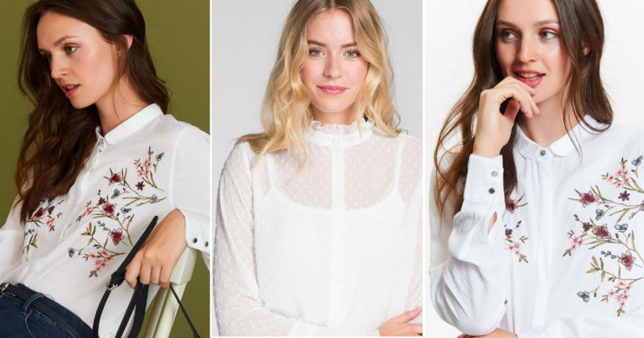 78afd1a38076 Najpiękniejsze białe bluzki - przegląd z sieciówek - Claudia
