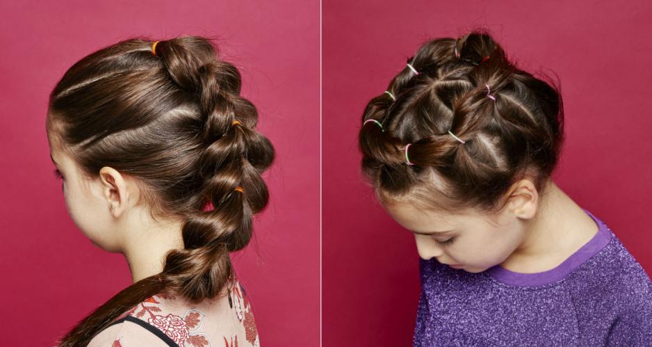 Ogromnie 3 pomysły na plecione fryzury dla dziewczynki - Claudia ZS47