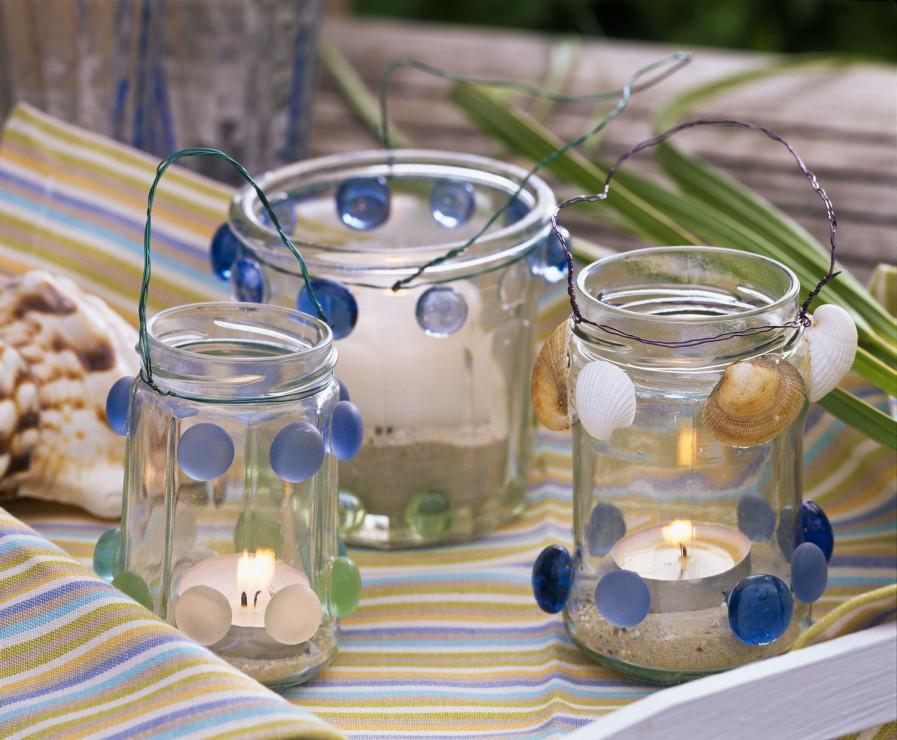 Lampiony ze słoików – latarnia morska - Lampiony ze słoików – zrób to sam