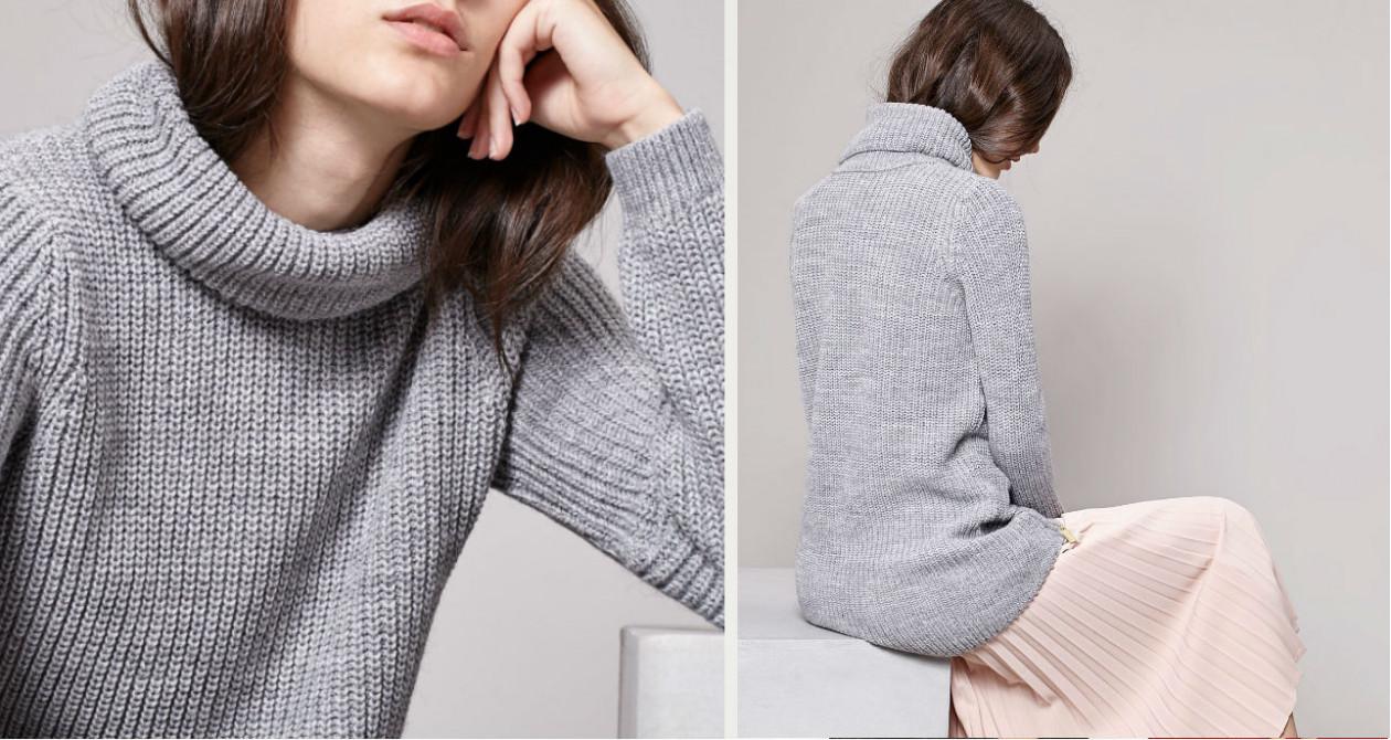 Sweter z golfem, Stradivarius - 99,90 zł - Ciepłe swetry - modne propozycje w dobrej cenie