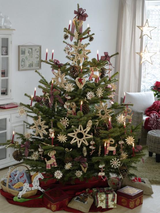 W Stylu Rustykalnym Najpiękniejsze świąteczne Choinki