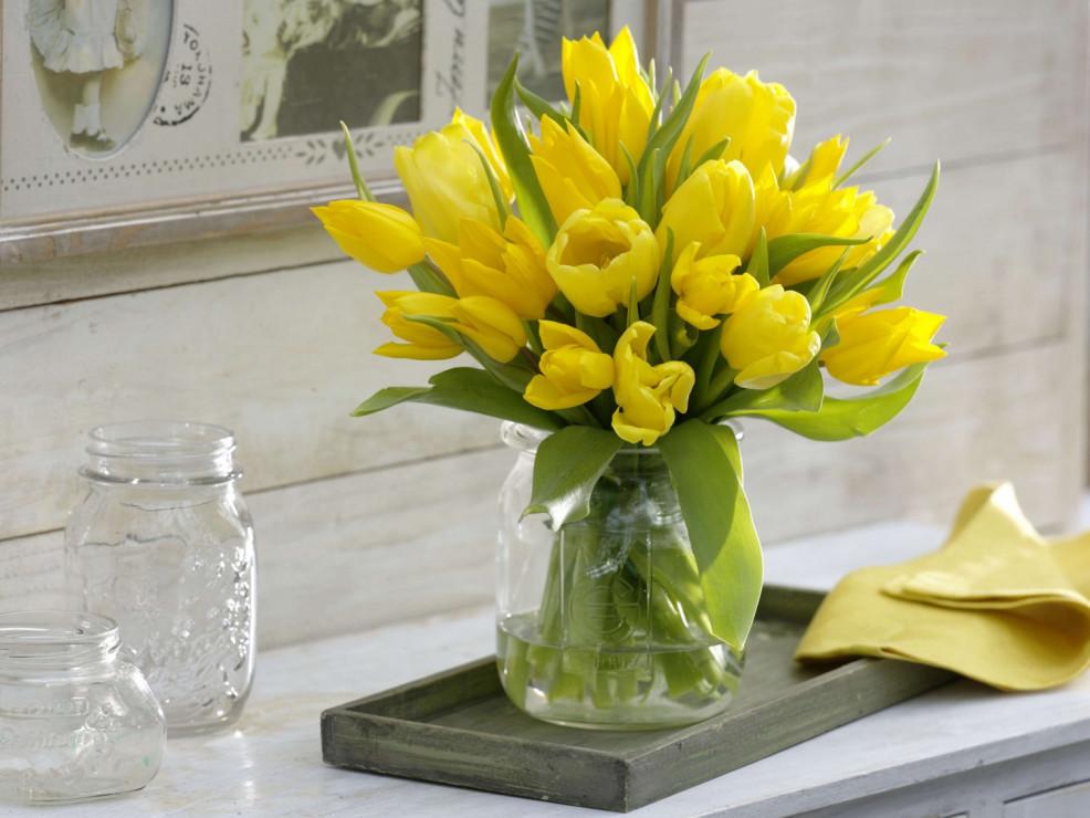 как продлить жизнь тюльпанов в вазе (дизайнер)