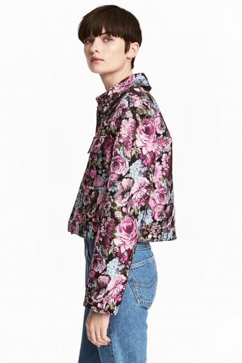 Żakardowa kurtka. H&M, 299,00 PLN - Trendy wiosna - lato 2017 - Kwiaty