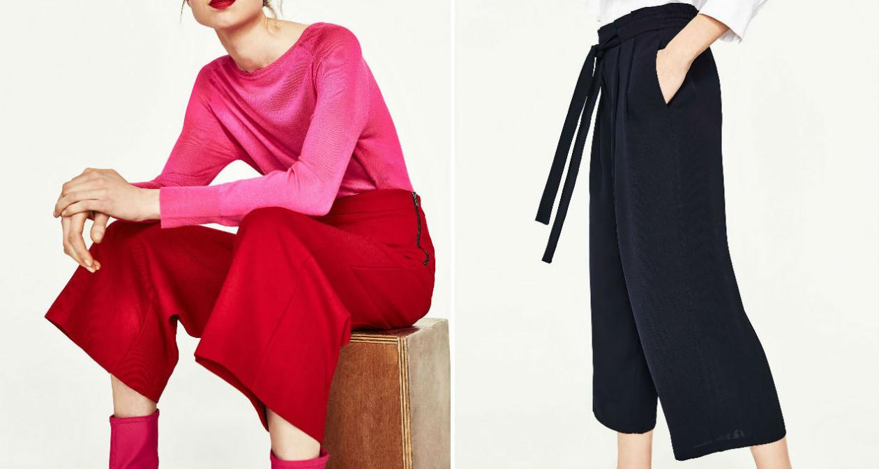 Trendy - szerokie spodnie - Wiosenny trend - szerokie spodnie