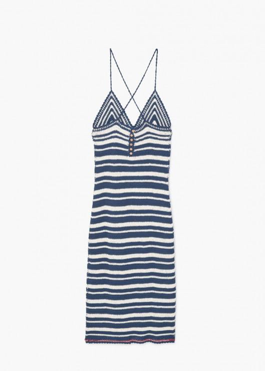06c57d0dc4 Szydełkowa sukienka w paski