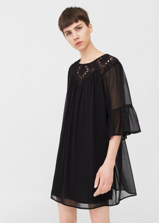 bfbe196c67 Plażowa sukienka z gipurową aplikacją