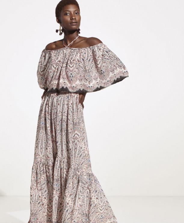 1bb21dc6be Sukienka we wzór paisley