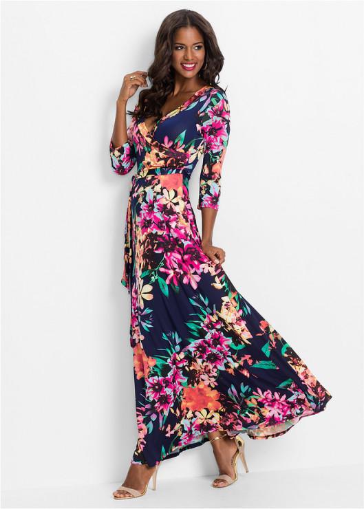 d uga sukienka w kwiaty 149 99 z bon prix najmodniejsze sukienki z jesiennych kolekcji. Black Bedroom Furniture Sets. Home Design Ideas