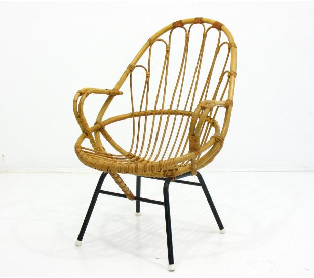 Fotel z rattanu vintage, 370 zł, Yestersen - Modne plecionki - sposób na zatrzymanie lata w domu