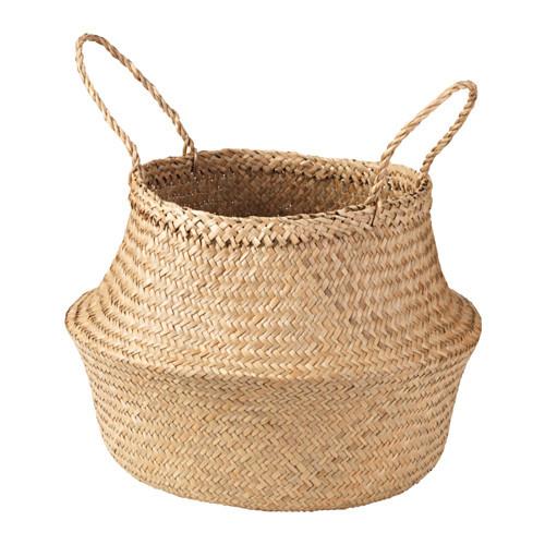 Koszyk z trawy morskiej - 49,99 zł, IKEA - Modne plecionki - sposób na zatrzymanie lata w domu
