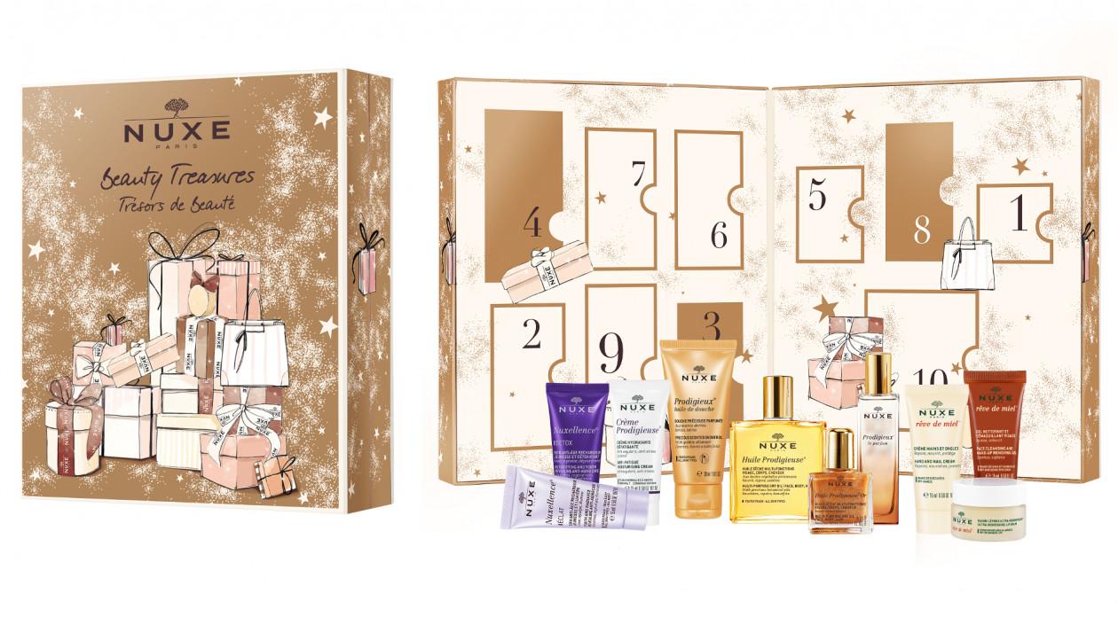 93bee40cf13b34 Advent Box Set 10 Beauty Treasures NUXE, 249 zł - Najciekawsze kalendarze  adwentowe 2017