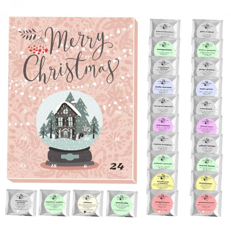 095cbba3a8ac53 Kalendarz adwentowy z herbatą Merry Christmas, 89,00 zł - Najciekawsze  kalendarze adwentowe 2017