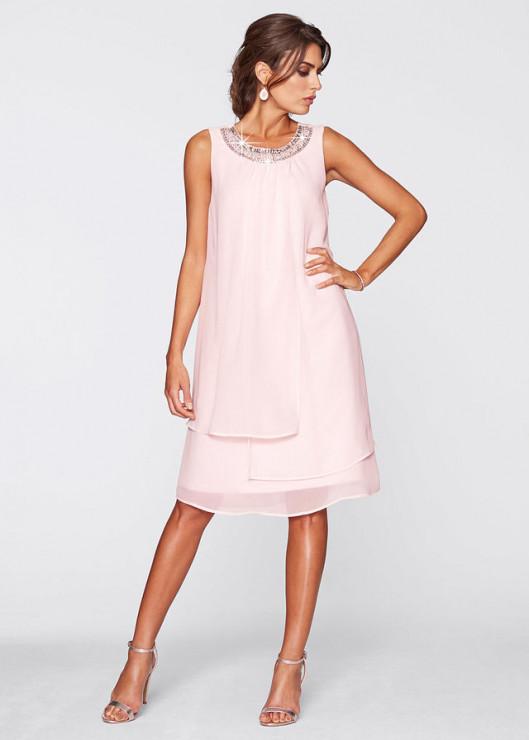 b4c5386c Sukienka z biżuteryjną aplikacją - 239,99 zł, Bon Prix - Zwiewne ...