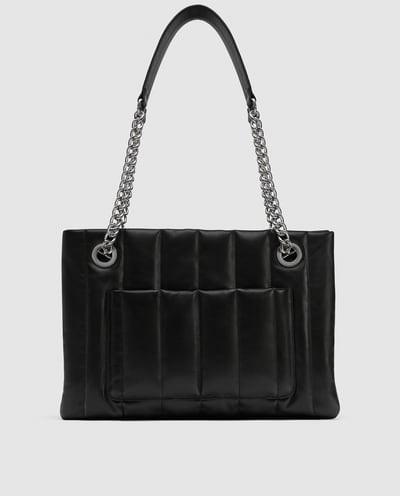 372938561c6db Skórzany shopper - 229 z 359 zł, Zara - Najmodniejsze torby z wyprzedaży