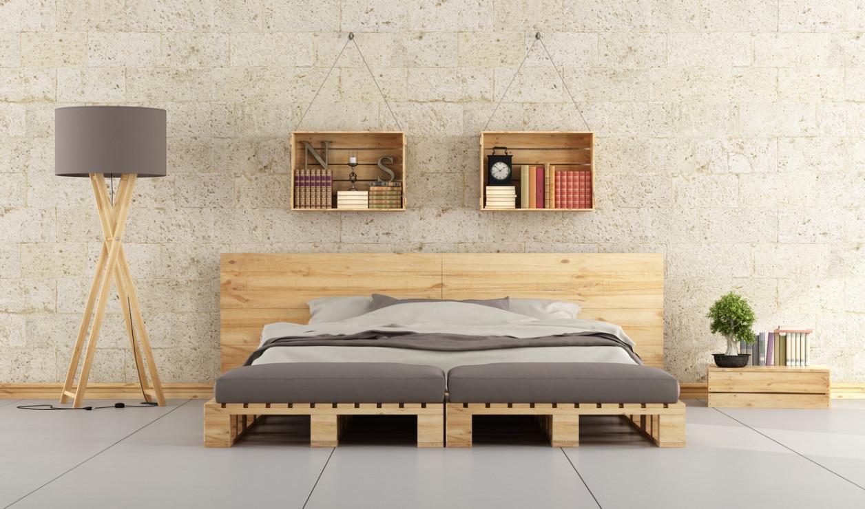 Półki W Sypialni Meble Ze Skrzynek W Domu 23 Pomysły Za
