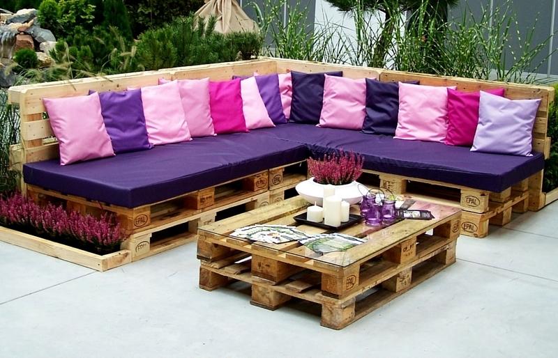 Meble ogrodowe z palet  5 stylowych pomysłów  Claudia