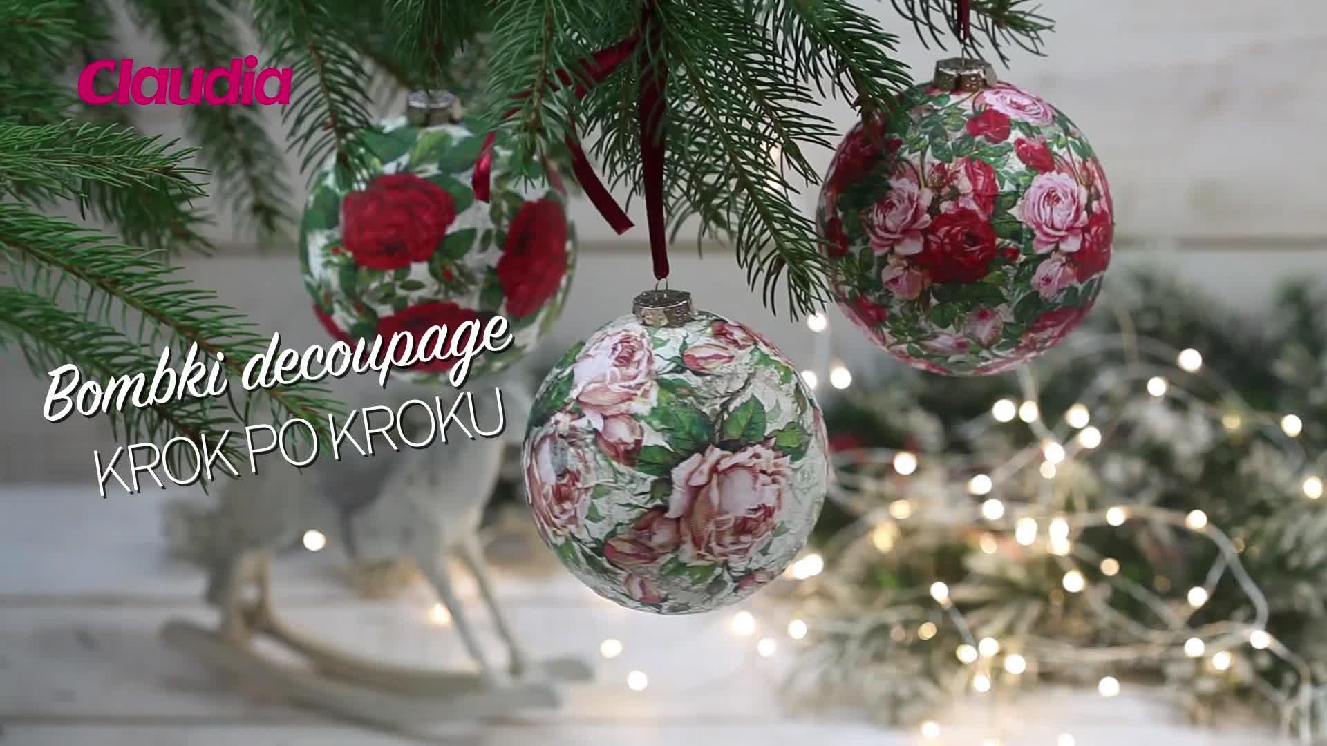 Bombki decoupage krok po kroku , Claudia.pl